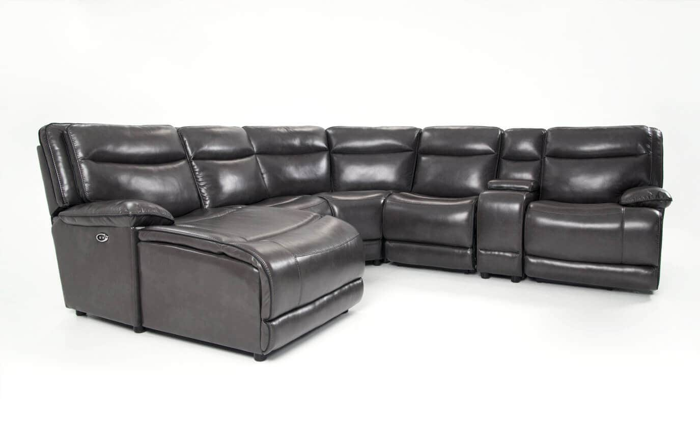Supernova Power Reclining 6 Piece Right Arm Facing Sectional