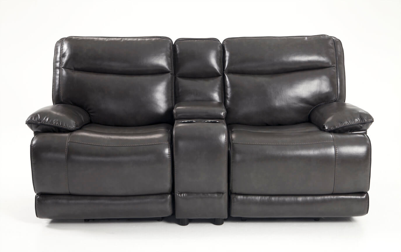 Supernova Power Reclining Console Loveseat