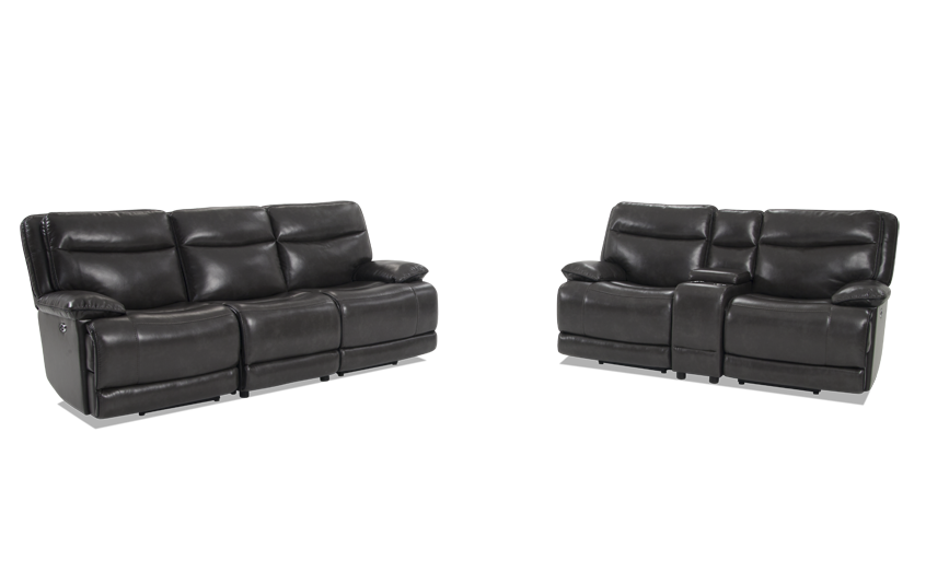 Supernova Power Reclining Sofa And Power Reclining Console Loveseat
