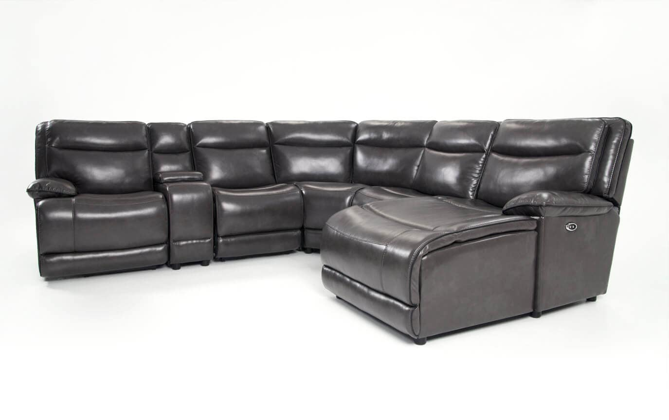 Supernova Power Reclining 6 Piece Left Arm Facing Sectional