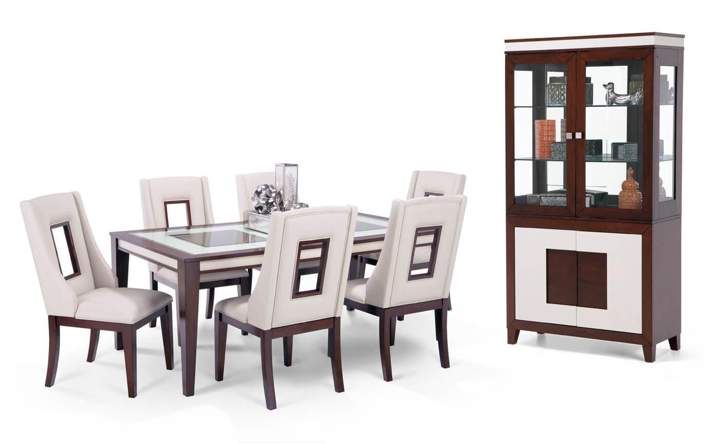 Kenzo 9 Piece Dining Set with Curio
