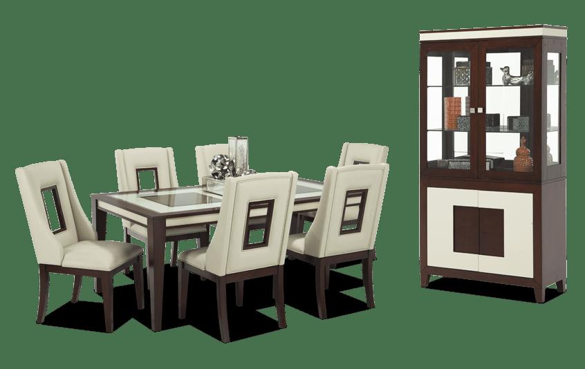 Kenzo 8 Piece Dining Set with Curio