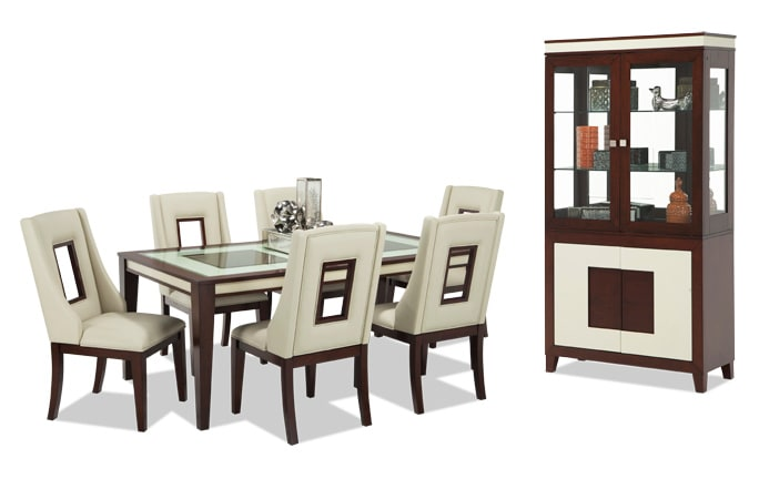 Kenzo 9 Piece Dining Set with Curio