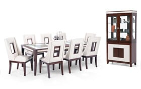 Kenzo 10 Piece Dining Set with Curio