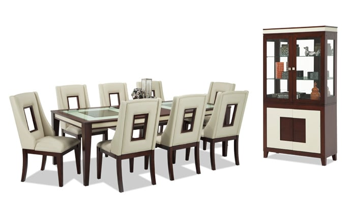 Kenzo 11 Piece Dining Set with Curio