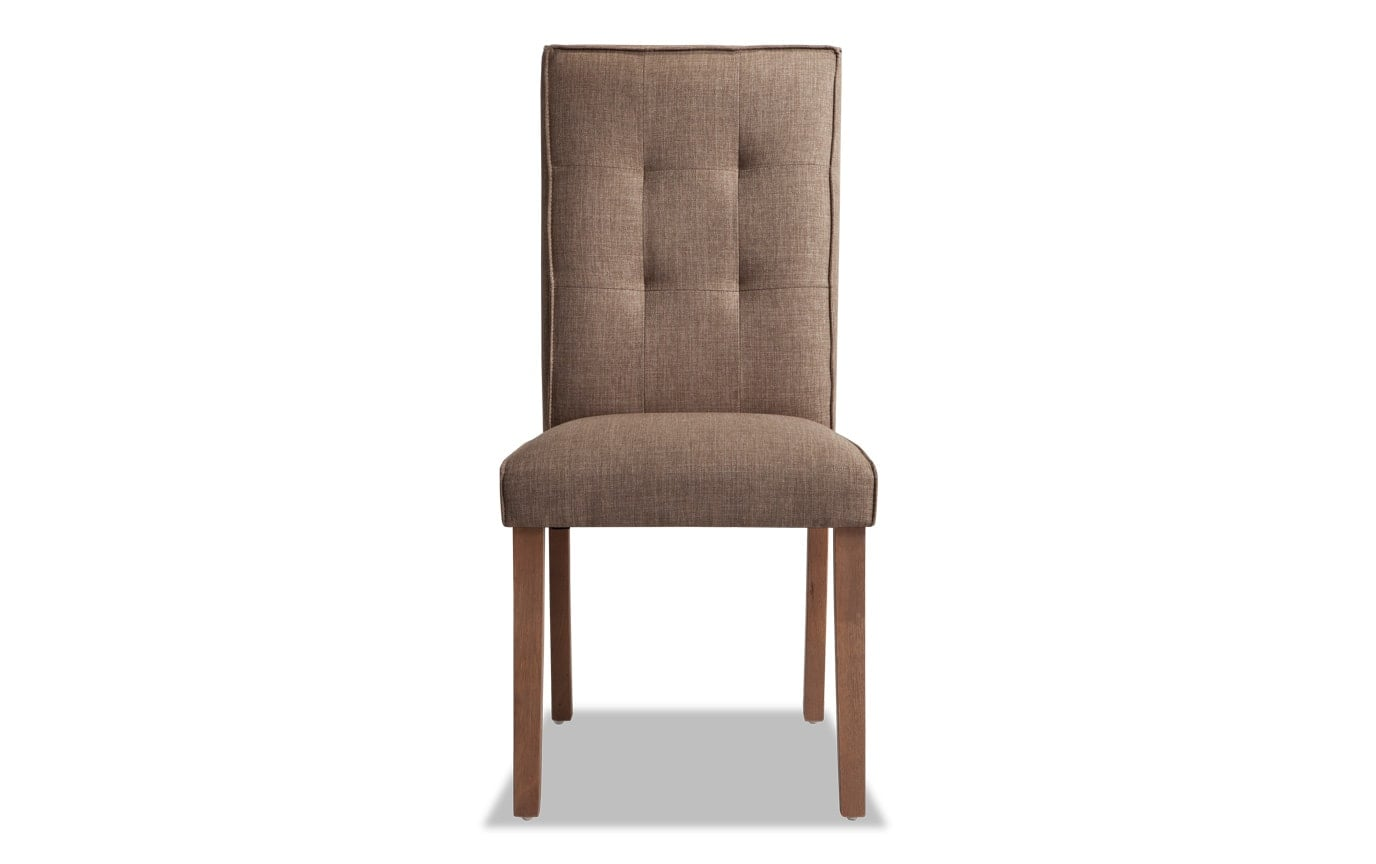 Summit Light Wire Brush Upholstered Dining Chair