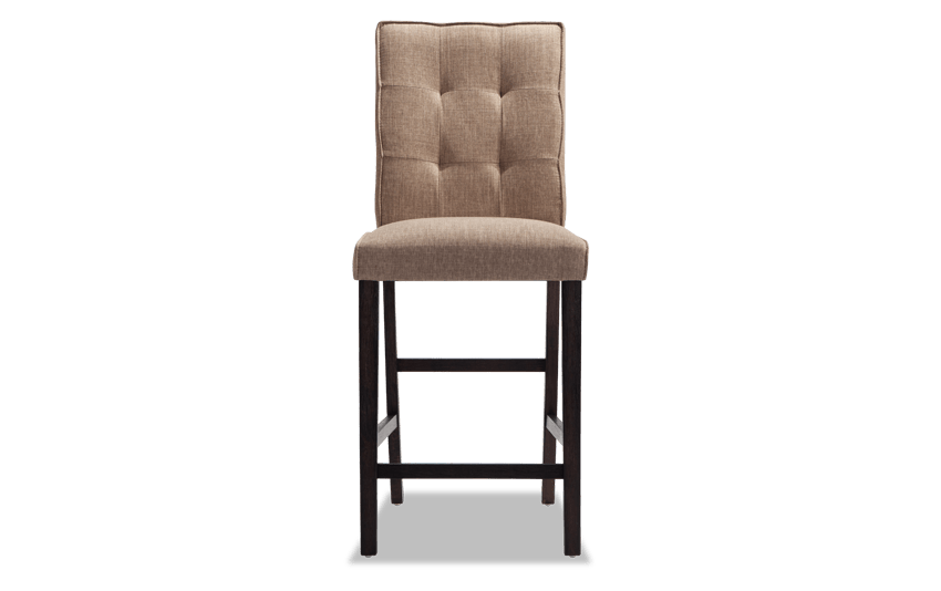 Summit Wire Brush Upholstered Counter Stool