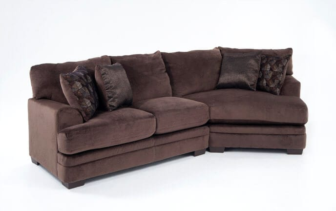 ... Charisma 2 Piece Left Arm Facing Sectional With Cuddler Chaise
