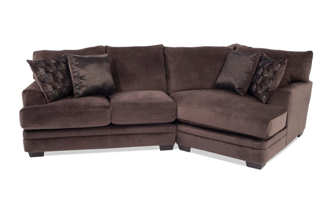 Charisma 2 Piece Left Arm Facing Sectional with Cuddler Chaise