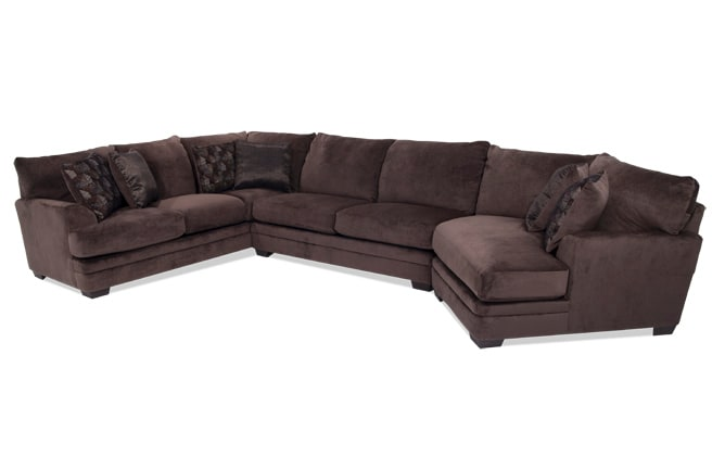 Charisma 3 Piece Left Arm Facing Sectional with Cuddler Chaise
