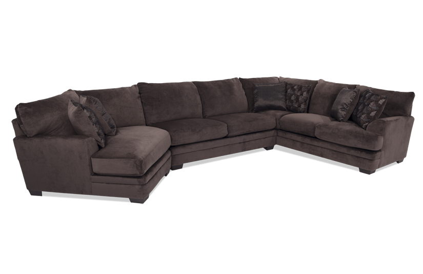 Charisma 3 Piece Right Arm Facing Sectional with Cuddler Chaise