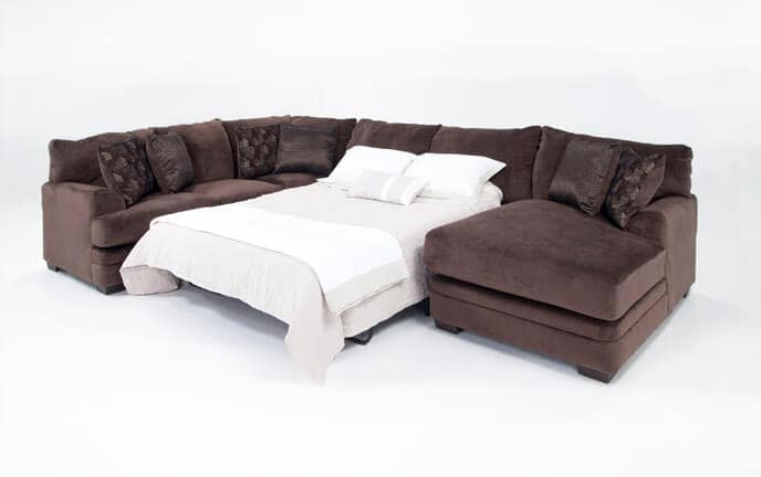 Charisma 3 Piece Left Arm Facing Innerspring Queen Sleeper Sectional