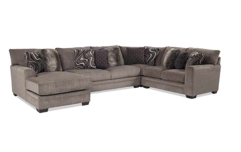 Luxe 4 Piece Right Arm Facing Sectional With Chaise Bob