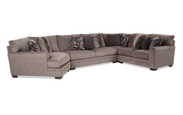 Luxe 4 Piece Sectional With Cuddler Chaise