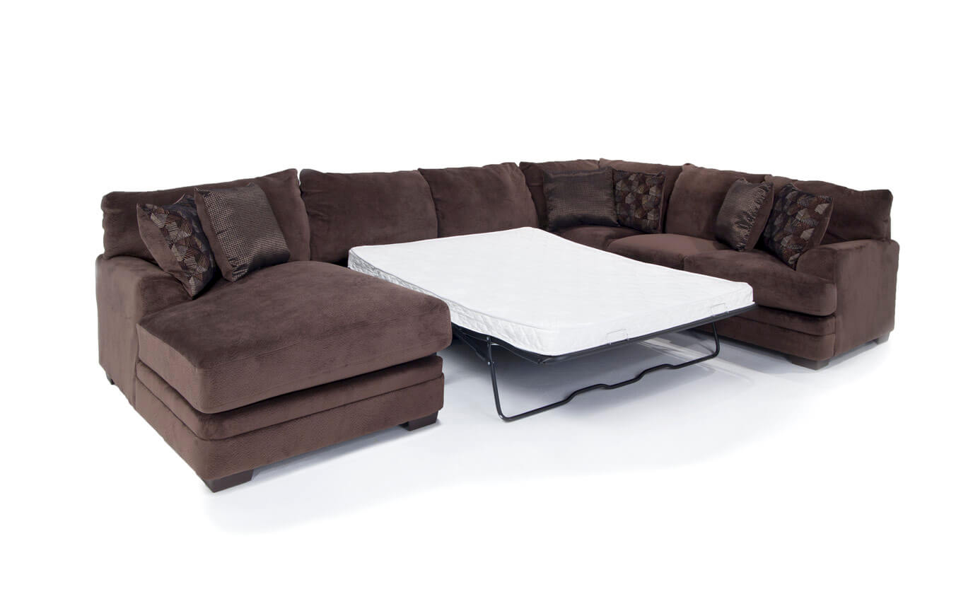 Charisma 3 Piece Right Arm Facing Innerspring Queen Sleeper Sectional