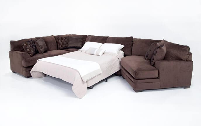Charisma 3 Piece Left Arm Facing Innerspring Queen Sleeper Sectional with Cuddler Chaise