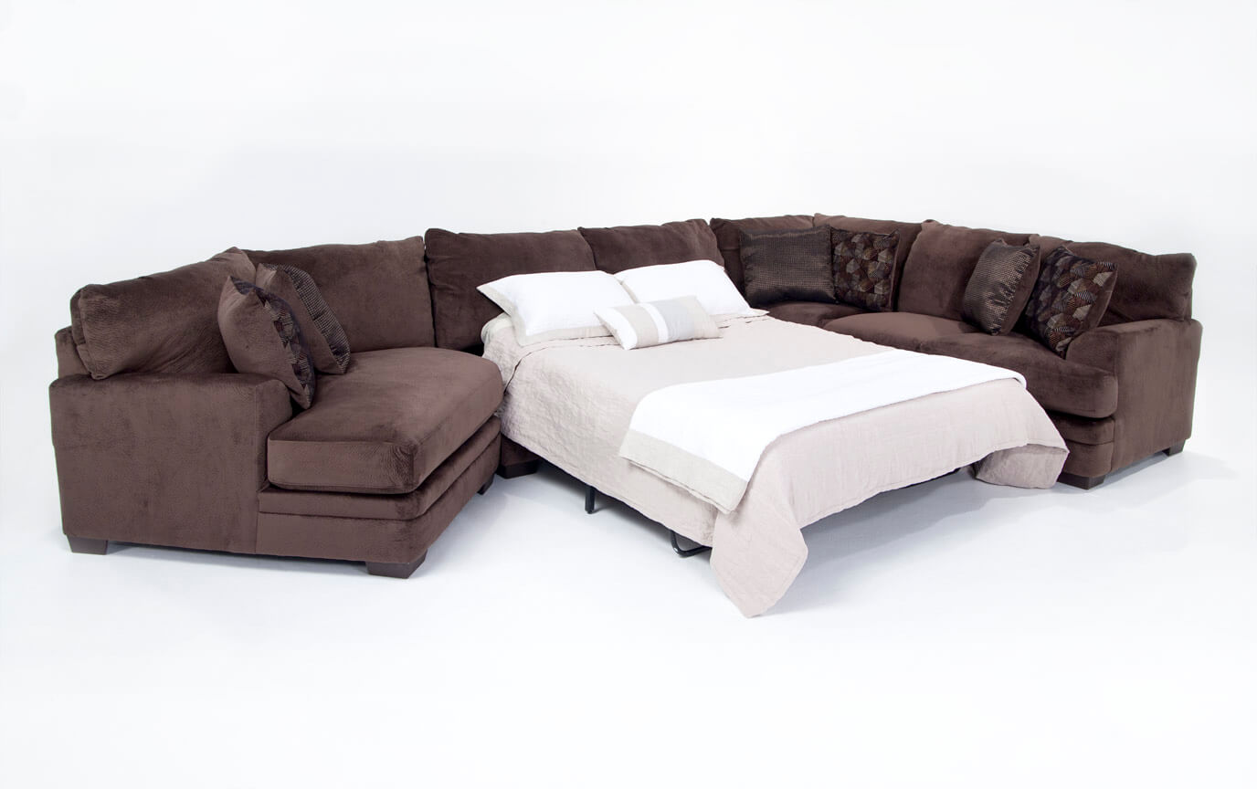 Charisma 3 Piece Right Arm Facing Innerspring Queen Sleeper Sectional with Cuddler Chaise