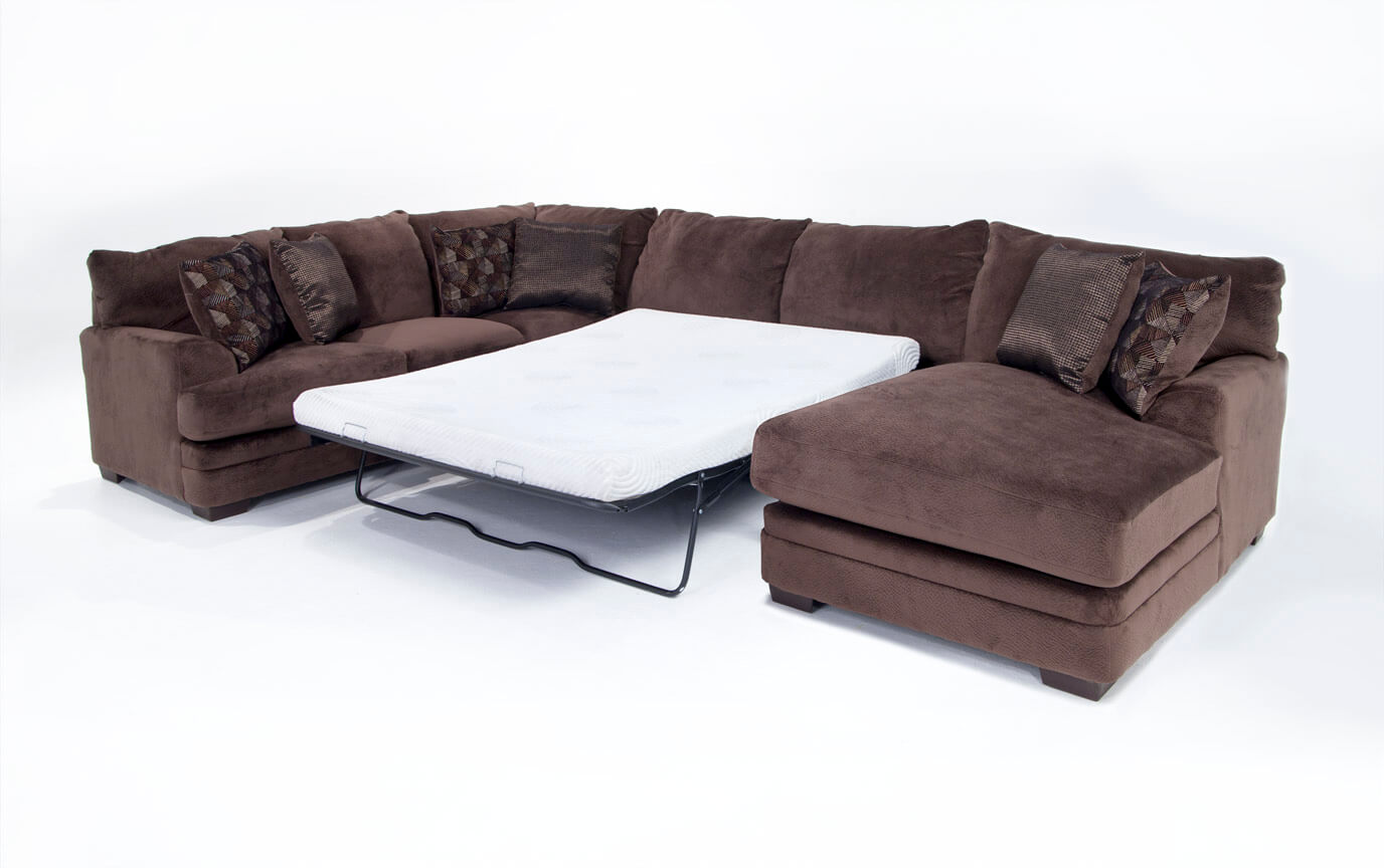 Charisma 3 Piece Left Arm Facing Bob-O-Pedic Gel Queen Sleeper Sectional