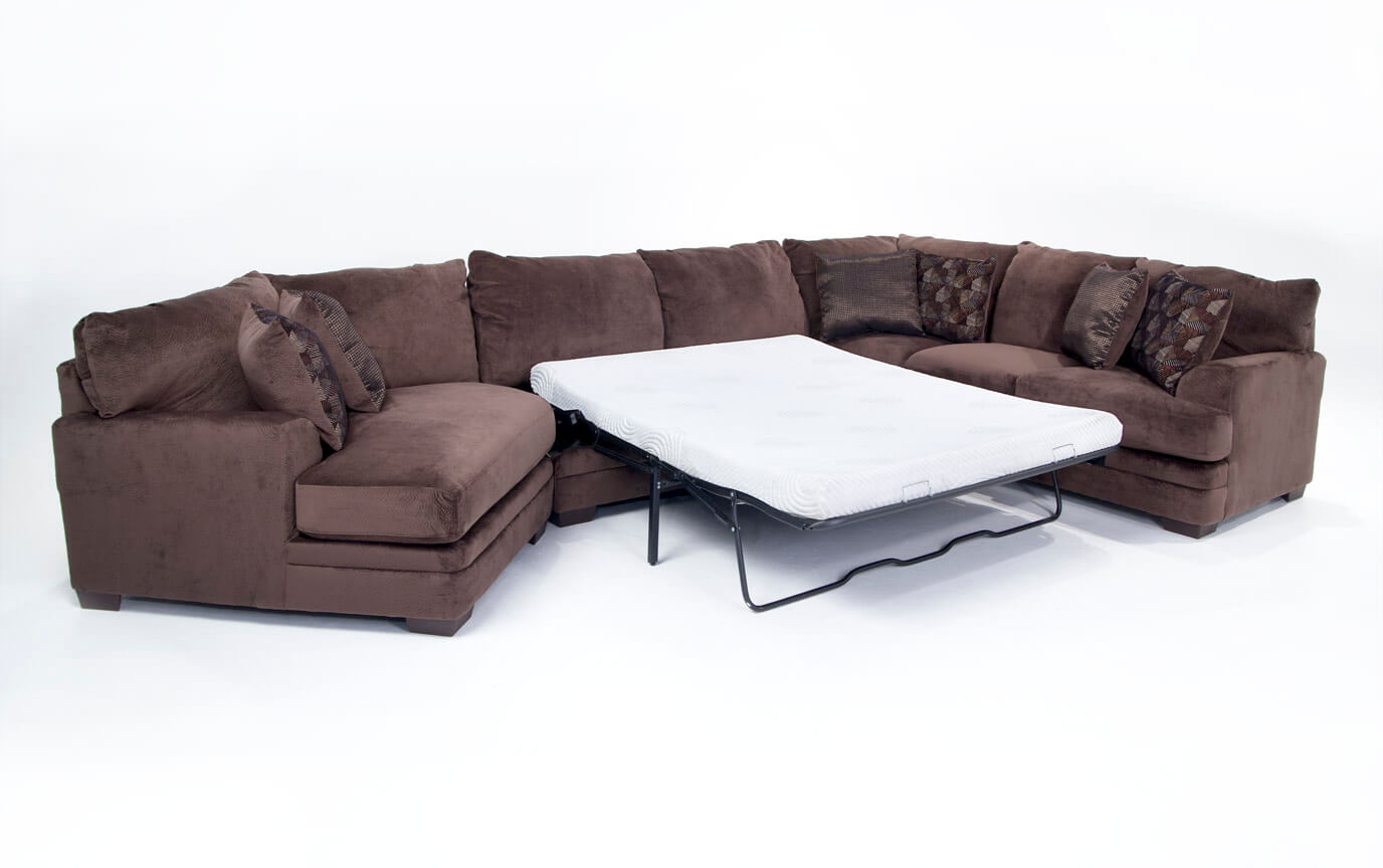 Charisma 3 Piece Right Arm Facing Bob-O-Pedic Gel Queen Sleeper Sectional with Cuddler Chaise