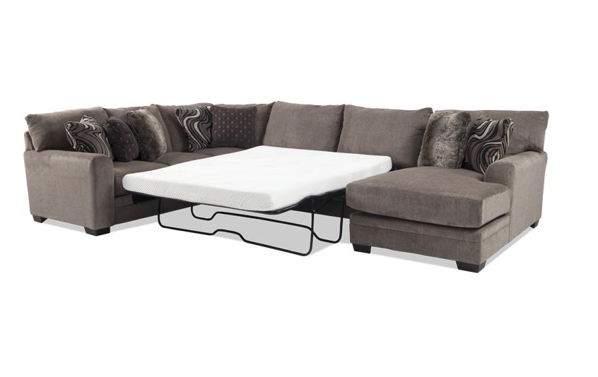 grey fabric sectional spaces raf pdp w chaise wraf living with sleeper lucy piece
