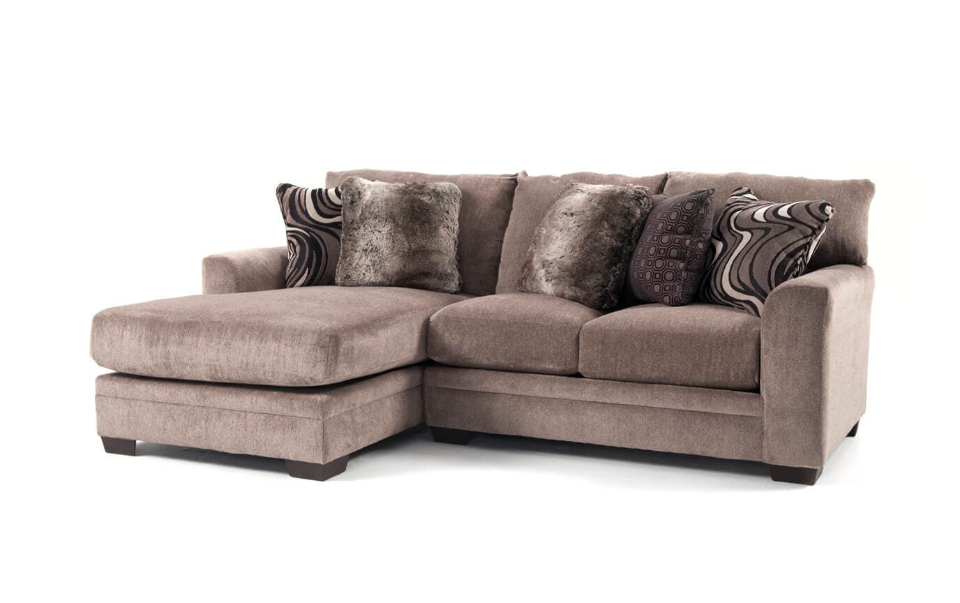 Luxe 2 Piece Right Arm Facing Sectional with Chaise
