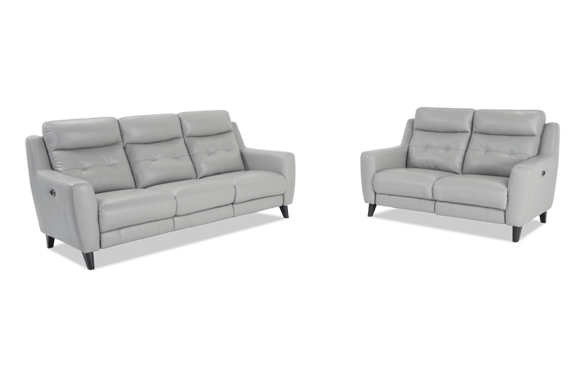 stratus leather power reclining sofa power reclining loveseat rh mybobs com calin power reclining sofa and loveseat power reclining sofa and loveseat fabric