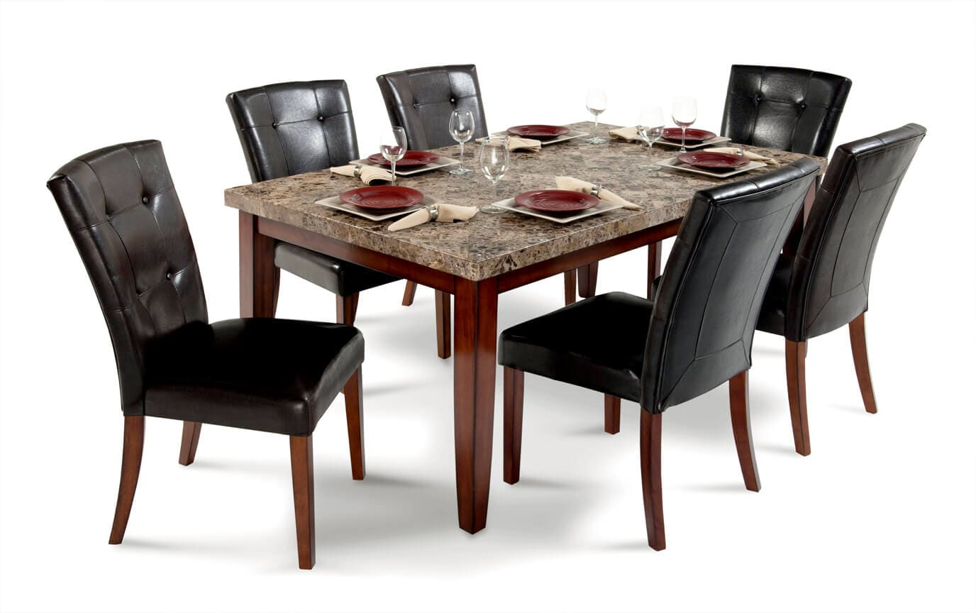 Montibello 42 X 70 7 Piece Dining Set Bob S Discount Furniture
