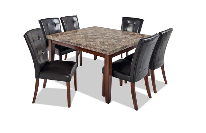 Montibello 54 X 54 7 Piece Dining Set Bobs Com