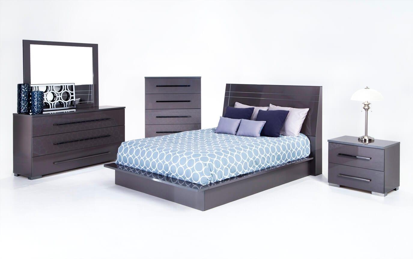 Superieur Platinum Bedroom Set