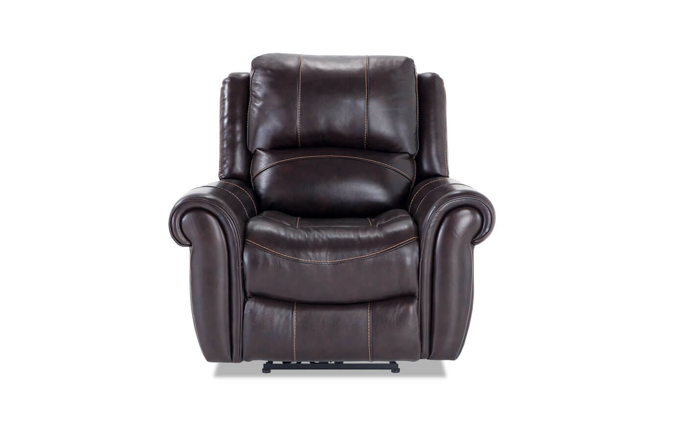 Bennett Leather Power Recliner Bobs Com
