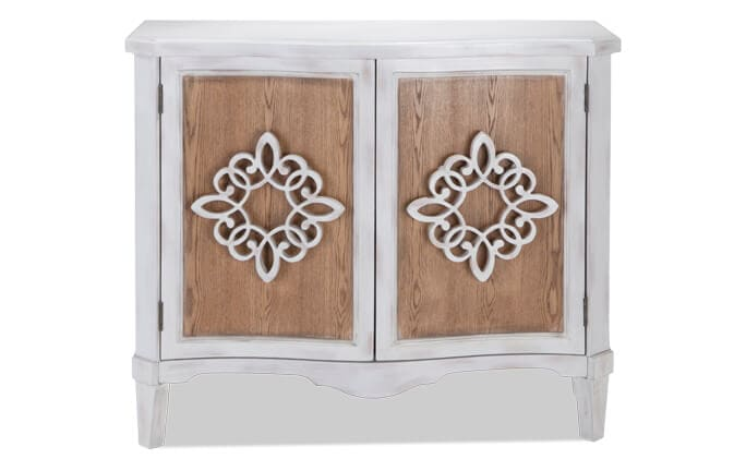 Wood Filigree Two Door Cabinet