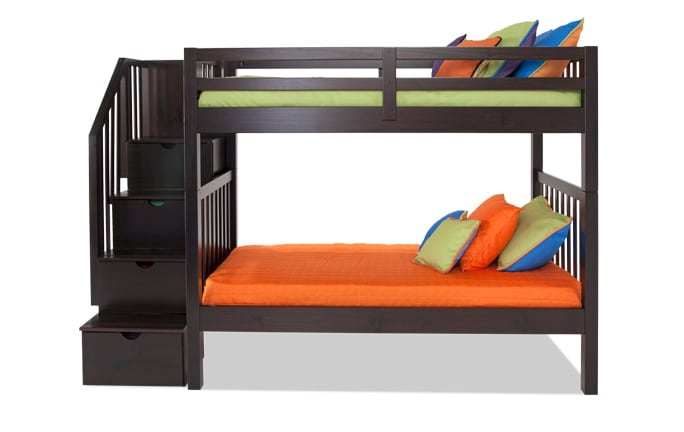 Keystone Stairway Twin/Full Bunk Bed
