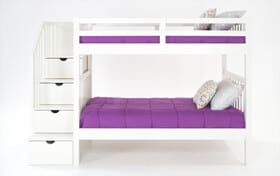 Keystone Twin White Stairway Bunk bed