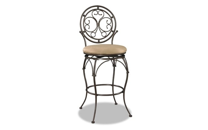 Big & Tall Scroll Circle Bar Stool
