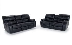 Avenger Power Reclining Sofa & Console Loveseat