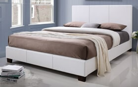 Kelsey Upholstered Queen White Bed