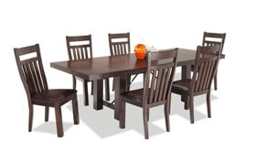 Mesa 7 Piece Dining Set with Slatted Chairs