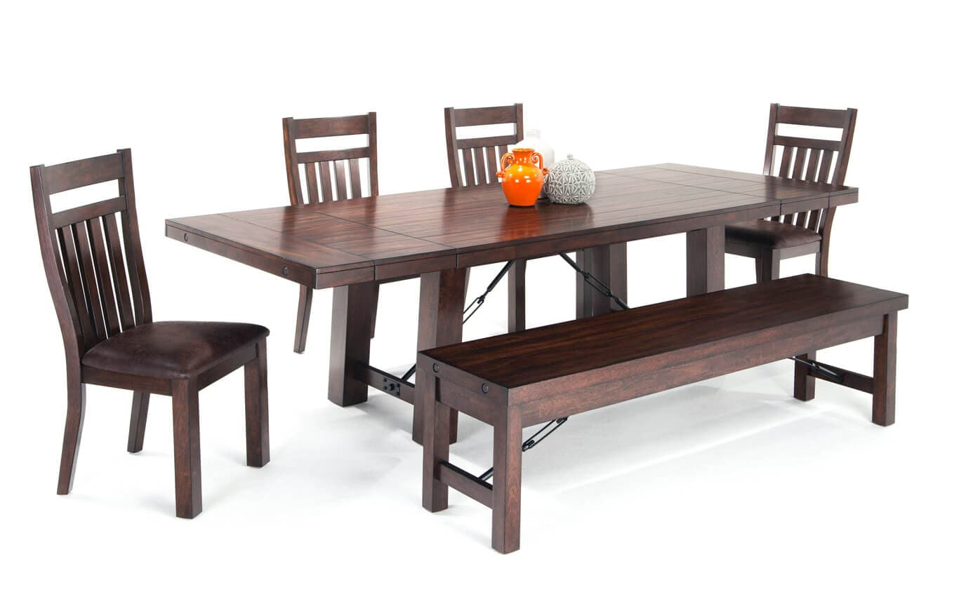 Mesa 6 Piece Dining Set with Storage Bench