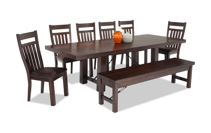 Mesa 8 Piece Dining Set with Storage Bench