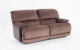 Dawson Brown Dual Power Reclining Loveseat