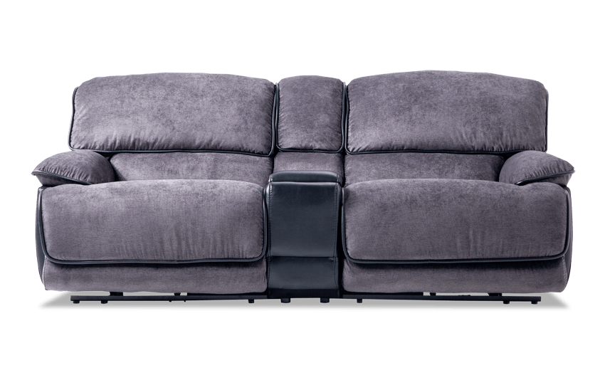 Dawson Dual Power Reclining Console Loveseat Bobs Com