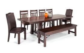 Mesa 8 Piece Dining Set with Storage Bench