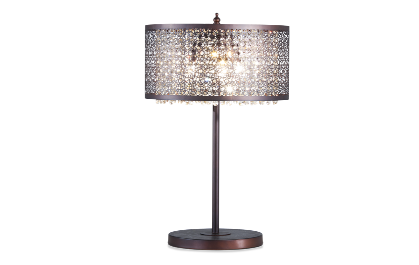Glitter Bronze-Cut Out Crystal Lamp