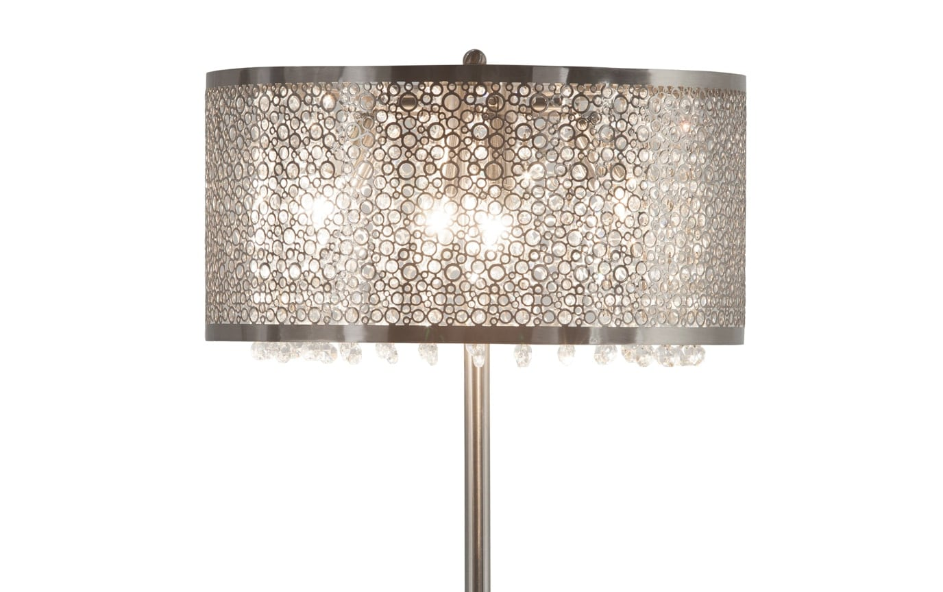 Glitter Silver-Cut Out Crystal Lamp
