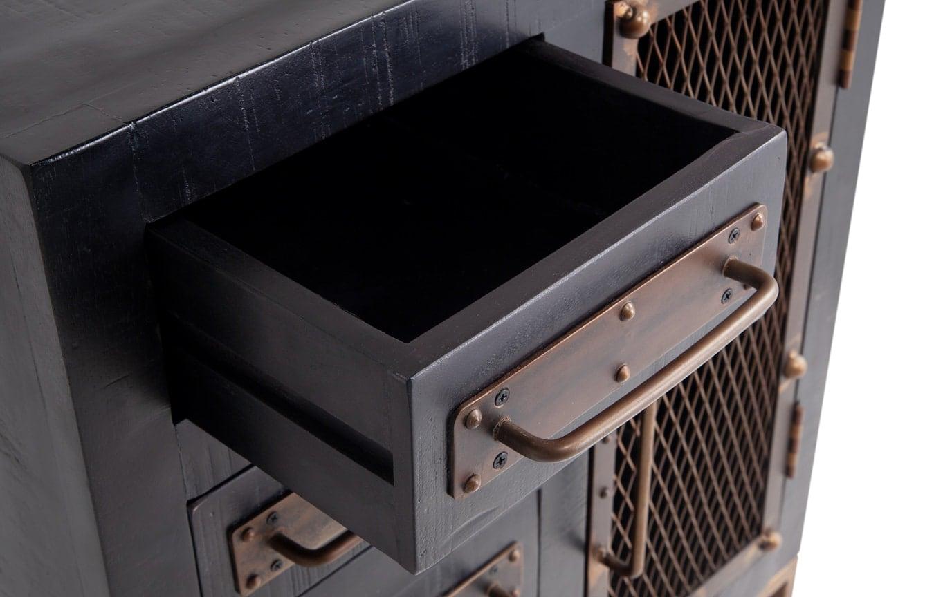 Boho Black Cabinet