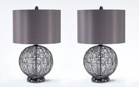 Set of 2 Graphite Lamps