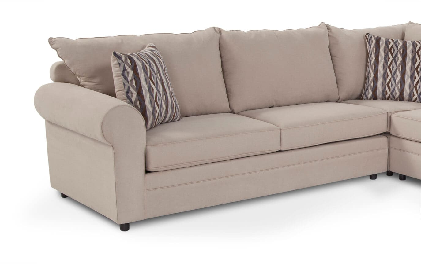 Venus 3 Piece Bob-O-Pedic Gel Full Sleeper Sectional