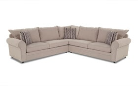 Venus Dune 3 Piece Bob-O-Pedic Gel Full Sleeper Sectional