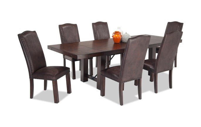 Mesa 7 Piece Dining Set with Upholstered Side Chairs