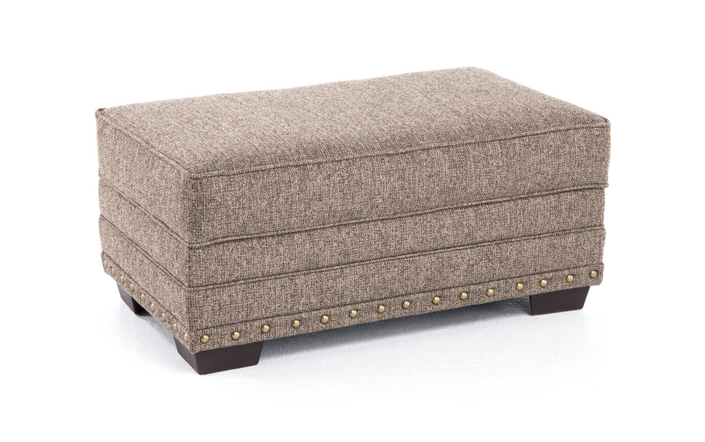 Garden City Taupe Storage Ottoman